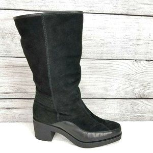 Cole Haan Suede Warm Winter Heeled Boot Shearling…